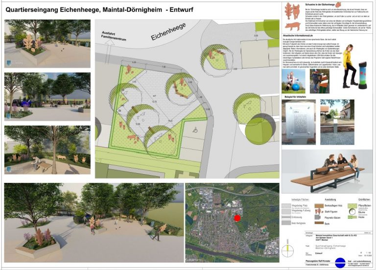 Entwurf Quartierseingang Eichenhege