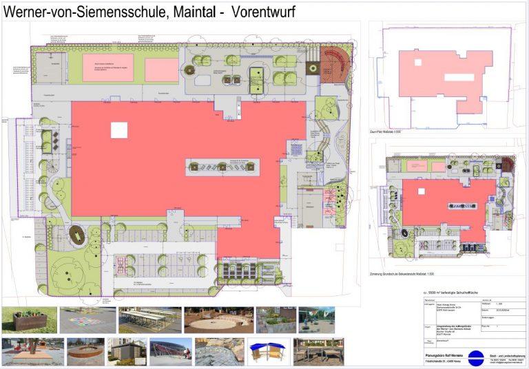 Vorentwurf Werner-von-Siemens Schule, Maintal